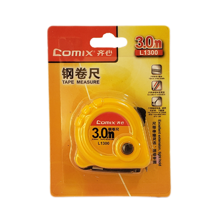 Picture of COMIX TAPE MEASURE 3.0M L 1300 YELLOW