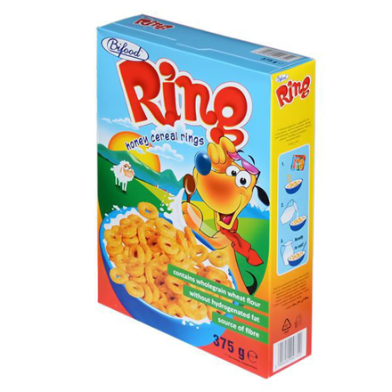 Picture of BIFOOD HONEY CEREAL RINGS 375G