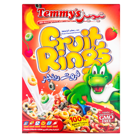 Picture of TEMMYS FRUIT RINGS 375G