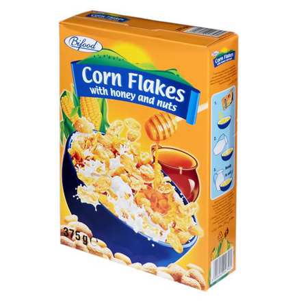 Picture of Bifood cornflakes with honey&nuts 375g