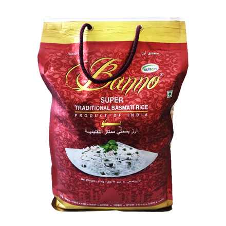 Picture of BANNO TRADITIONAL BASMATI RICE 5KG BAG
