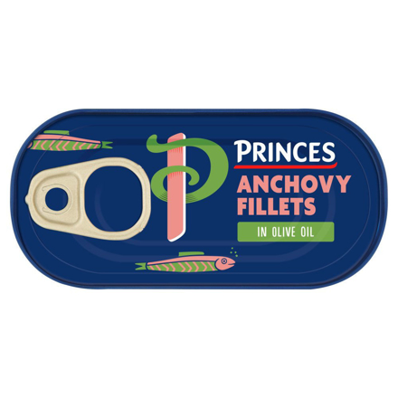Picture of PRINCES ANCHOVY FILLETS IN OLIVE OIL 50G