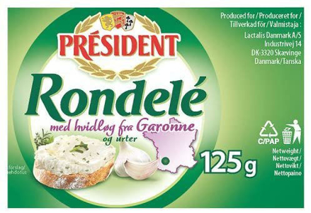 Picture of PRESIDENT RONDELE 125G