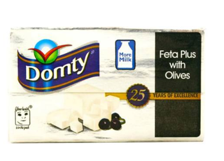 Picture of DOMTY FETA WITH OLIVES 250G
