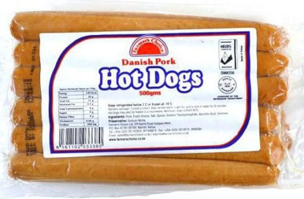 Picture of FARMER'S CHOICE DANISH PORK HOT DOGS 500G