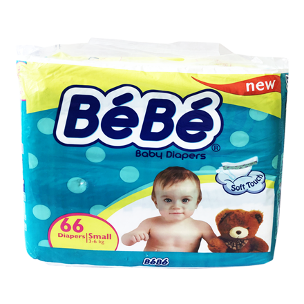 Picture of BEBE BABY DIAPERS SMALL 3-6KG 66PCS
