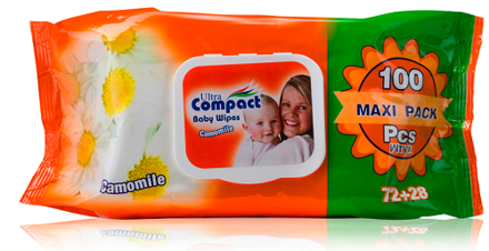 Picture of ULTRA COMPACT CAMOMILE BABY WIPES