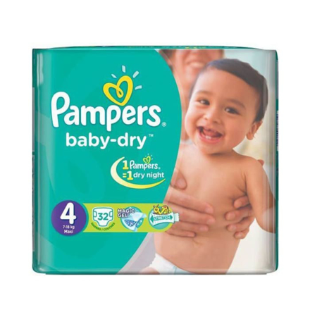 Picture of PAMPERS 4 7-18KG MAXI 32PCS DIAPERS