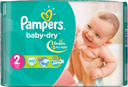Picture of PAMPERS 2 3-6 MINI 40PCS DIPER