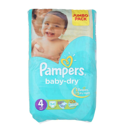 Picture of PAMPERS 4 7-18KG MAXI 64PCS DIAPERS