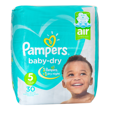 Picture of PAMPERS BABY DIAPER 5 11-25KG 30PCS