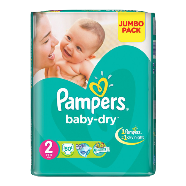 Picture of PAMPERS 3-6KG MINI DIAPER 80PCS