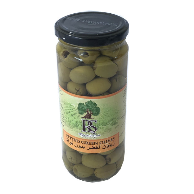 Picture of RS PITTED GREEN OLIVES 420G