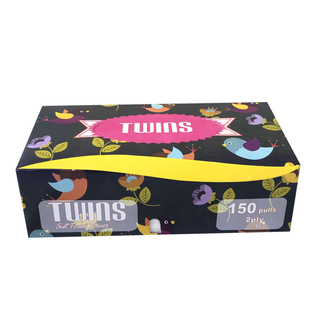 Picture of TWINS BOX TISSUES 150 PULLS 2PLY