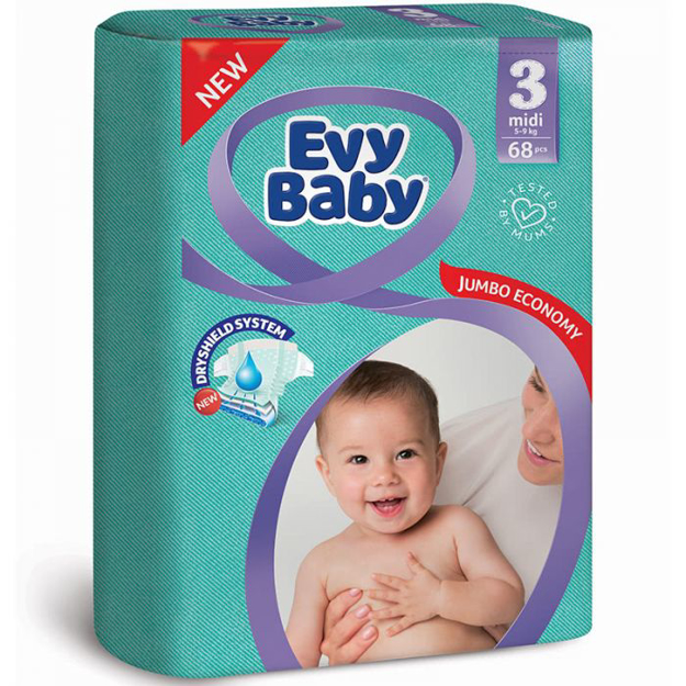 Picture of EVY BABY 3 MIDI 5-9KG 68PCSS