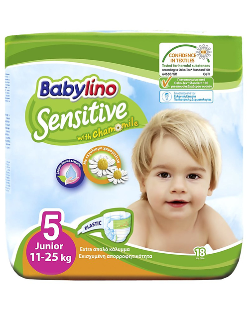Picture of BABYLINO SENSITIVE WITH CHAMOMILE 5JUNIOR 11-25KG