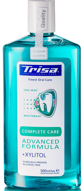 Picture of TRISA FRESH  MINT MOUTHWASH 500ML
