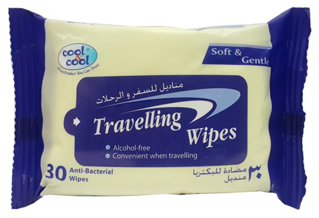 Picture of COOL & COOL TRAVELLING 30 WIPES