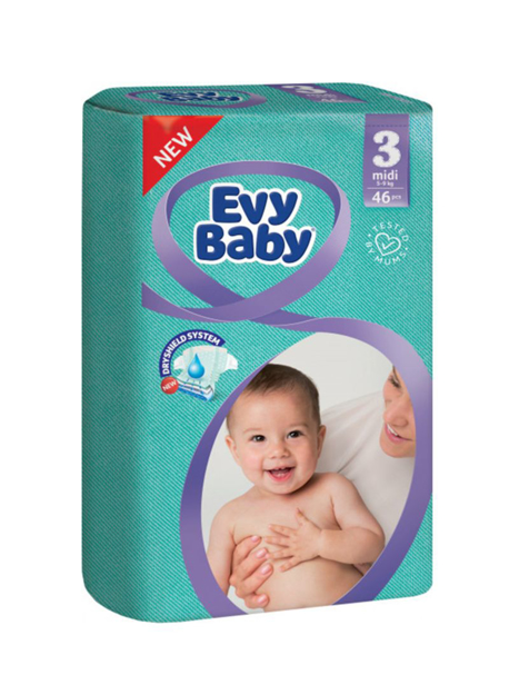 Picture of EVY BABY DIAPER 3MID 5-9KG 46PCS
