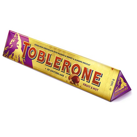 Picture of TOBLERONE FRUIT & NUT  360G