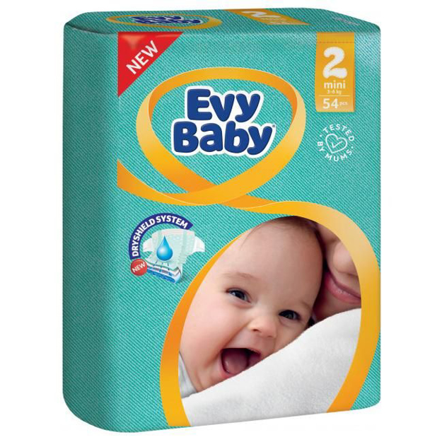 Picture of EVY BABY 2 MINI 3-6KG 54PCS