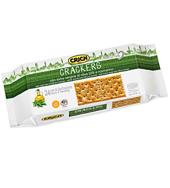 Picture of CRICH CRACKERS EXTRA VERGINE OLIVE OIL&ROSMARINO 250G