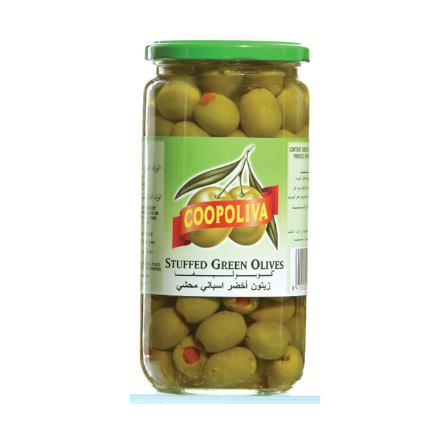Picture of COOPOLIVA WHOLE GREEN OLIVE 345G