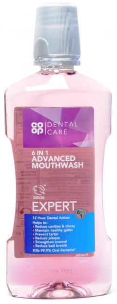 Picture of CO OP DENTAL CARE 6IN1 ADVANCED MOUTHWASH EXPERT