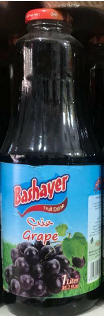 Picture of BASHAYER FRUIT DRINK GRAPE 1 LITR