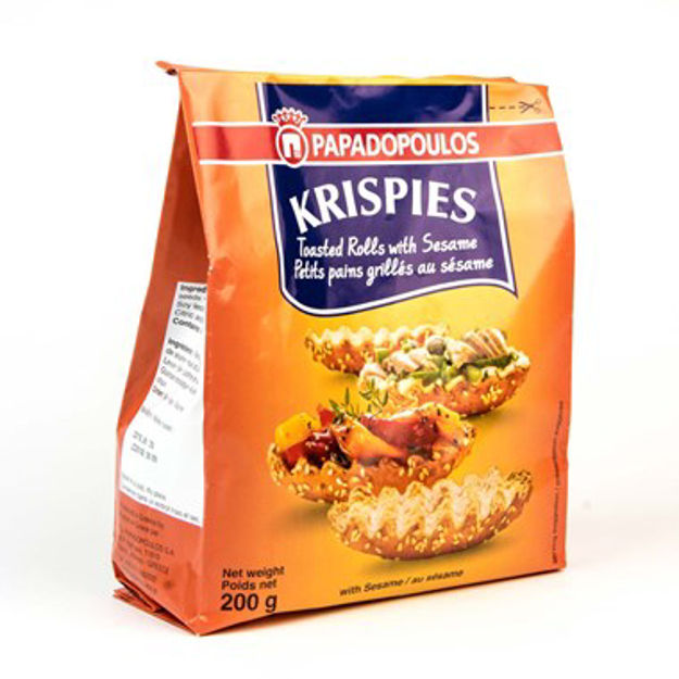 Picture of PAPADOPOULOS KRISPIES WITH SESAME  200G