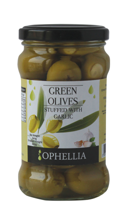 Picture of GREEK GREEN STUFFED OLIVES 314G
